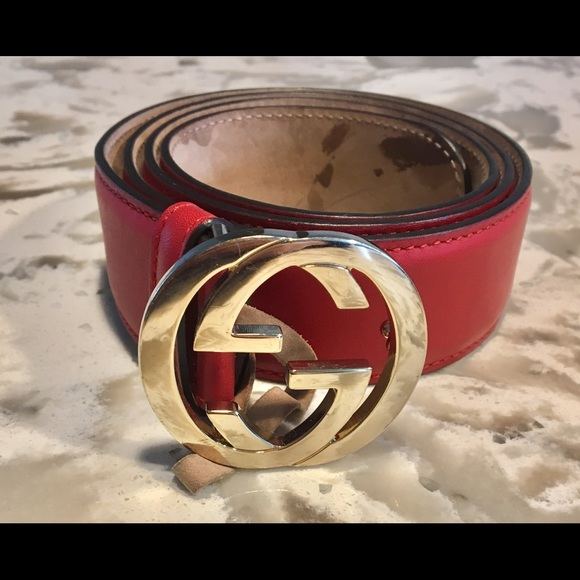 cdaefa1ae94 Gucci Accessories - Red Leather Gucci Belt